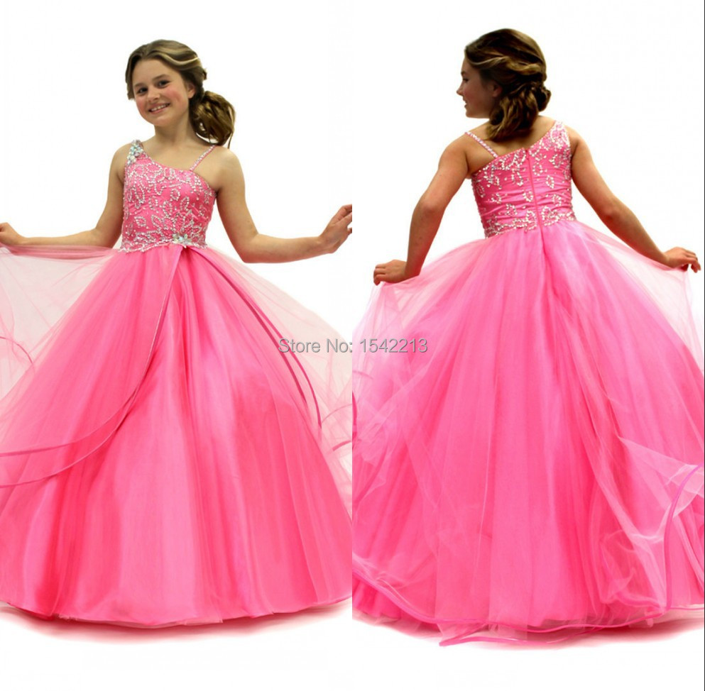 One Strap Pageant Dresses