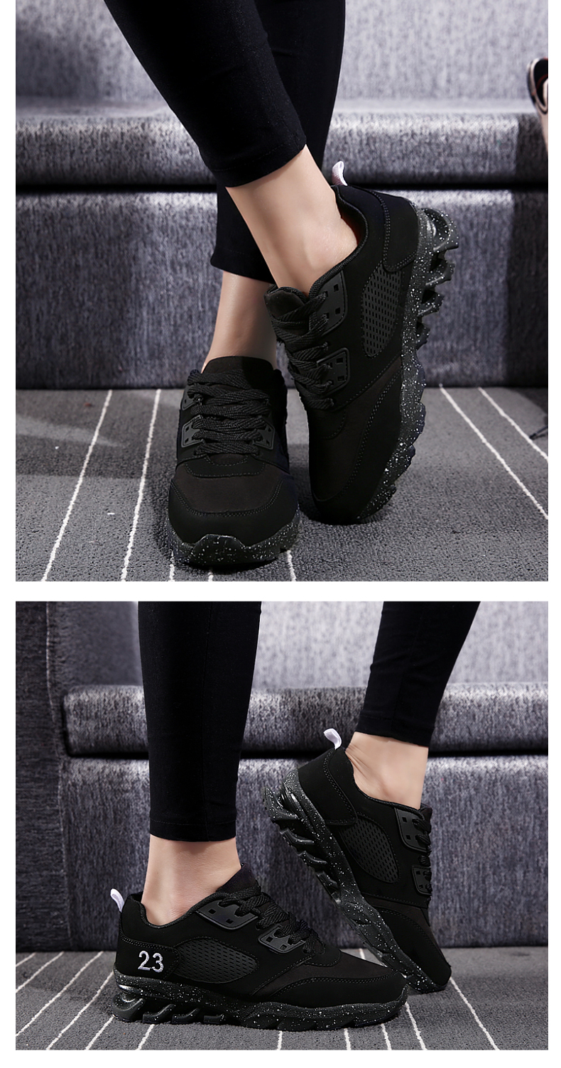 17 New Womens and Girl Brand cheap Running Shoes Outdoor Breathable Athletic Jogging Sneakers student Sport Blade Shoes black 5