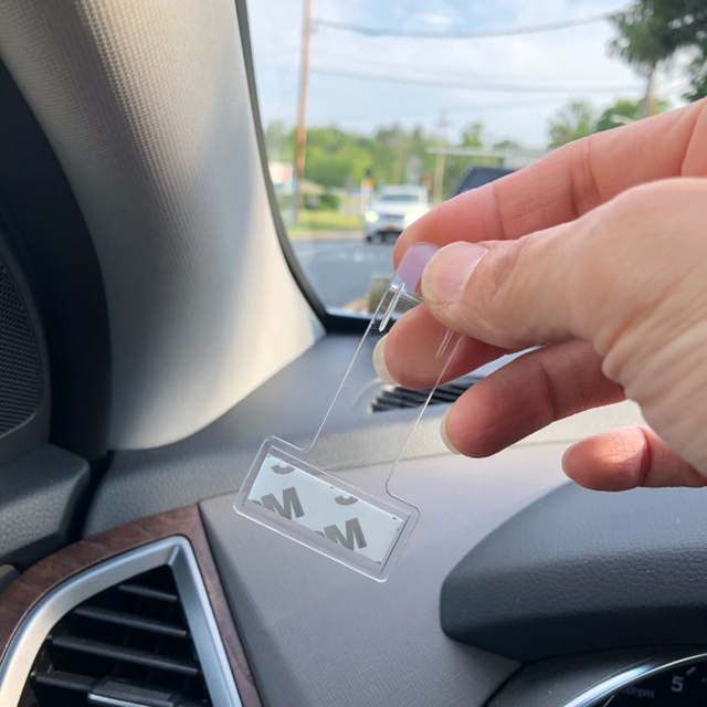 2pcs/4pcs Car Vehicle Parking Ticket Permit Holder Clip Sticker Windscreen Window Fastener Stickers Hook Kit For Car Accessories