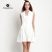 Black and White Office Dress V Neck Office Dress for Women Sleeveless Office Dress