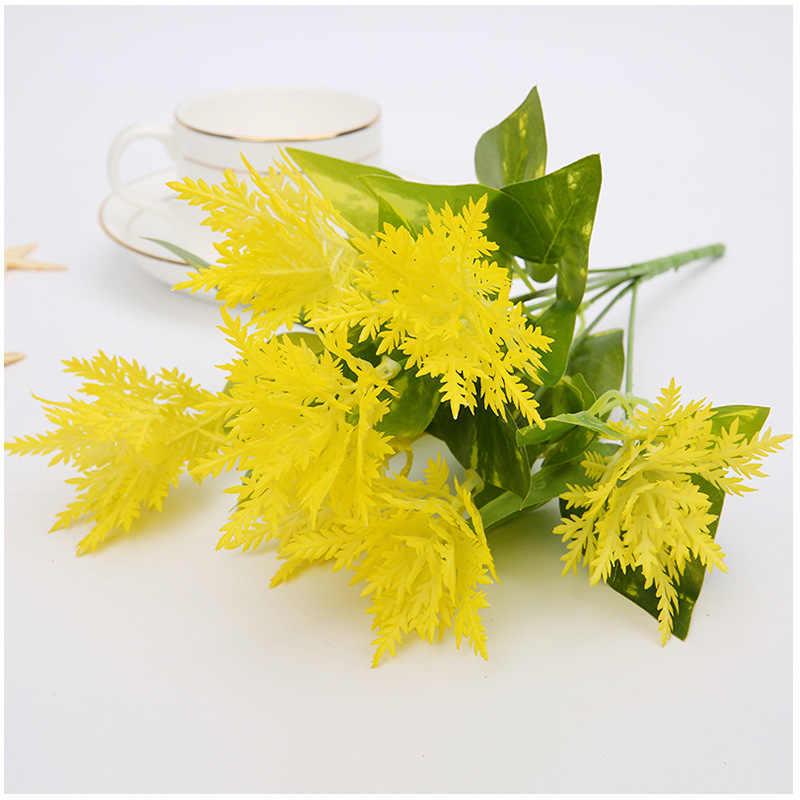 2 шт. 7 стеблей искусственный спаржа папоротник трава цветок кусты домашнего офиса Deor декоративное растение Пластиковые Зеленые растения
