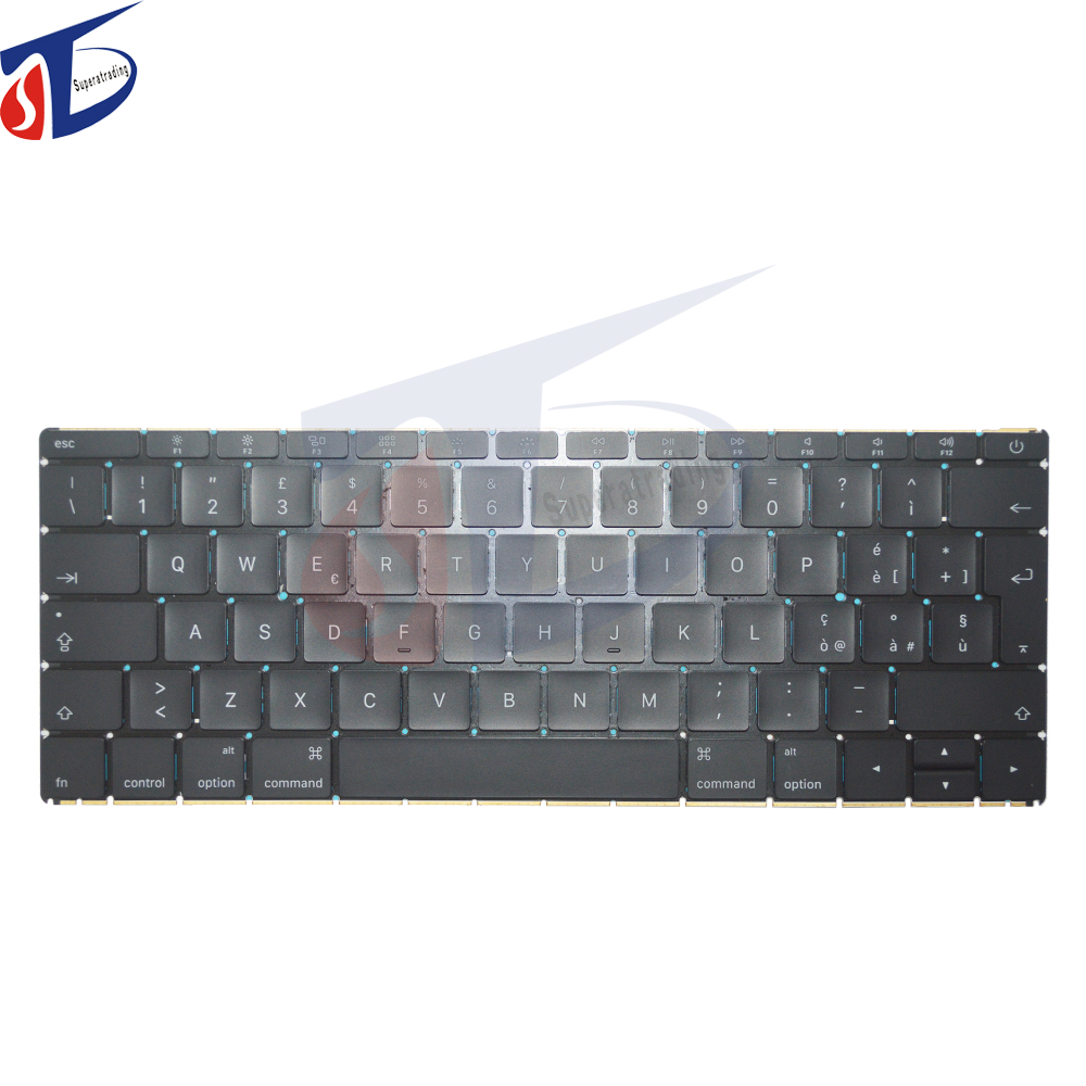 2016year Laptop for MacBook 12 Retina A1534 Keyboard IT Italian Italy without Backlight MLHA2 MLHC2 EMC 2991 laptop keyboard for lg p330 black without frame it italian sn7115 sg 48500 2ia