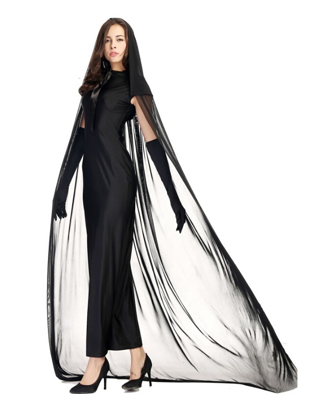 free shipping black ghost ghost halloween dress prom queen witch costume in holidays costumes from novelty special use on aliexpresscom alibaba group
