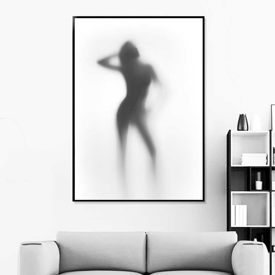Sexy Women Nude Naked Girl Shower Hazy Nordic Posters And Prints Wall Art Canvas Painting Wall Pictures For Living Room Decor