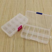 2,3x6x12,8 см 10 ячеек прозрачный пластик пустой ящик для хранения DIY Инструменты