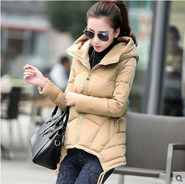 New Plus Size Women Korean Winter Slim Cotton Padded Short Hooded Jacket Casual Thick Warm Winter Coat Parkas M/3Xl S2613 2017 new winter jacket women long cotton padded hooded jackets parkas ladies plus size m 3xl winter casual coat