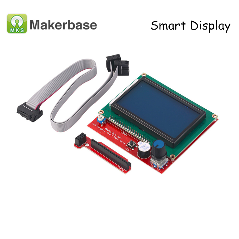 3D Printer Parts <font><b>LCD</b></font> <font><b>12864</b></font> <font><b>RAMPS</b></font> 1.4 Smart Controller Display Full Graphic 12864LCD Panel for MKS SBASE image