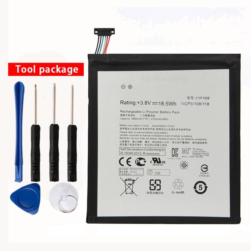 Orginal C11P1502 Tablet PC Battery For ASUS ZenPad10 Z300C Z300M Z300CG Z300CL P023 P01T 10.1 4890mAh