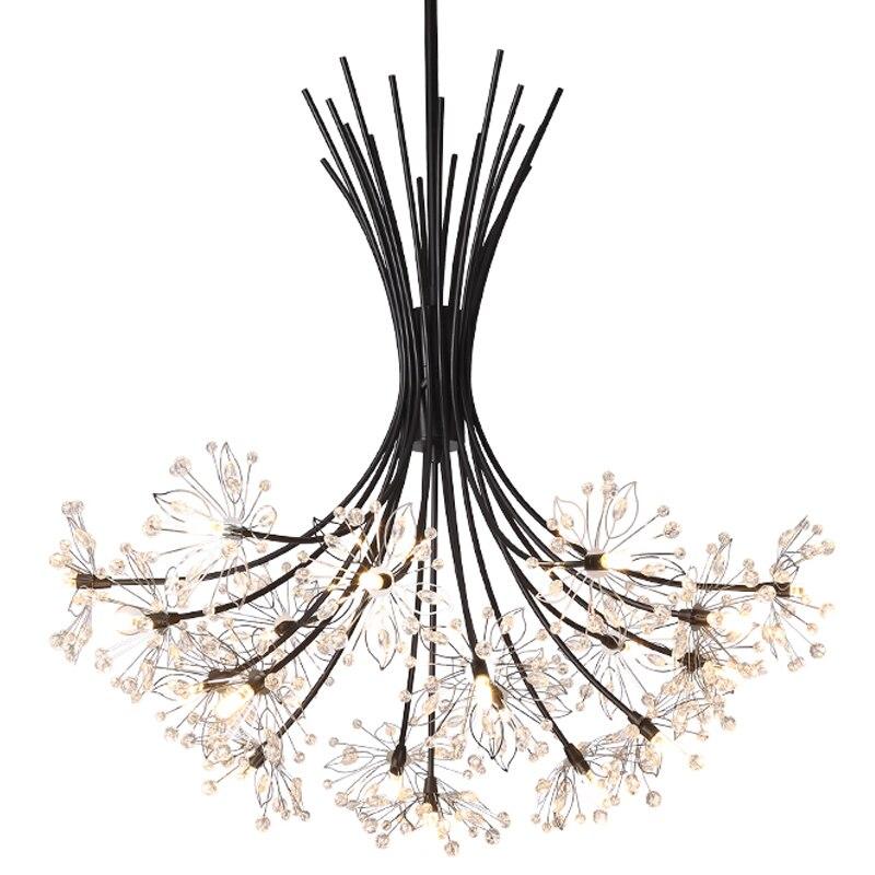 Light Pendant Hang European Crystal Home Deco Techo Moderna Lampara Colgante Lustre E Pendente Para Sala