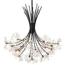 Подвесной светильник в европейском стиле с кристаллами для дома Deco Techo современный Lampara Colgante Lustre E Pendente Para Sala обеденный стол подвесной светильник