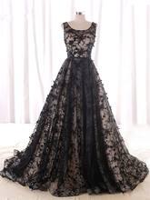 Элегантное Тюлевое кружевное платье трапеция с глубоким вырезом