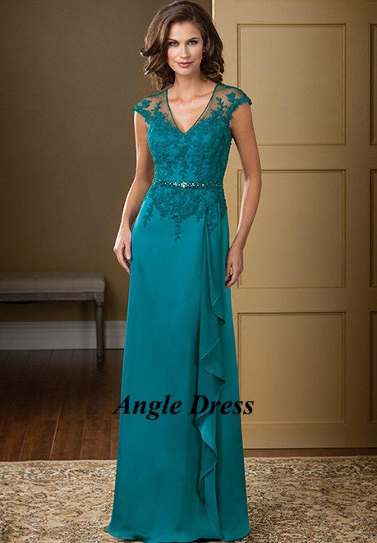 Turquesa madre de la novia del cordón vestidos tallas grandes ...