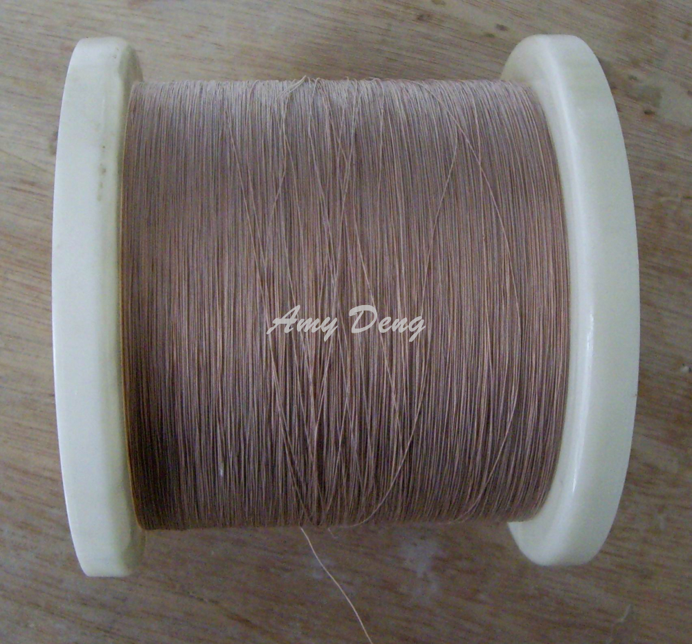 500 Meters/lot 0.1x3 Shares High Frequency Transformer New Mul Strand Polyester Wire Copper Wire Cotton