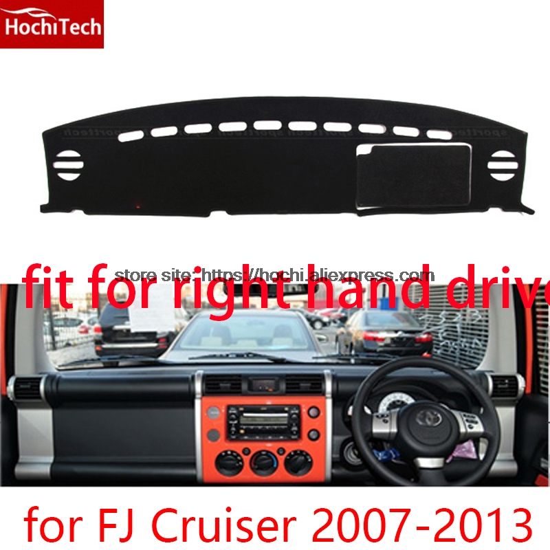 For toyota FJ Cruiser right hand drive dashboard mat Protective pad black car-styling Interior Refit Sticker Mat products for toyota fj cruiser 2007 13 double