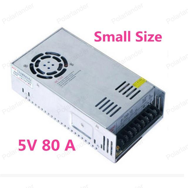 Mejor quality5V 80A 400 W Conmutación Controlador de fuente de Alimentación para la Tira del LED de la CA 100-240 V de Entrada DC 5 V envío libre