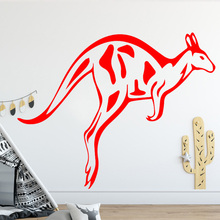 New arrival Animal Kangaroo Pattern Wall Sticker for Living Room Background Creative Design Decal Vinyl Art Stickers