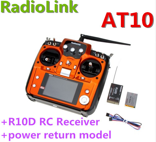 RadioLink AT10 2.4G 10CH Transmitter remote control system R10D Receiver return model for RC Helicopter DIY RC Quadcopter Plane