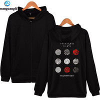2018 Twenty One Pilots Cartoon Zipper Sweatshirt Hoodie Men And Rock Band Hip Hop Mens Hoodies