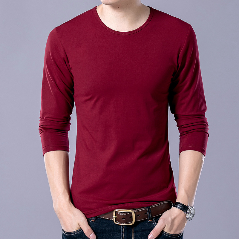 Men s new solid color long sleeve 442