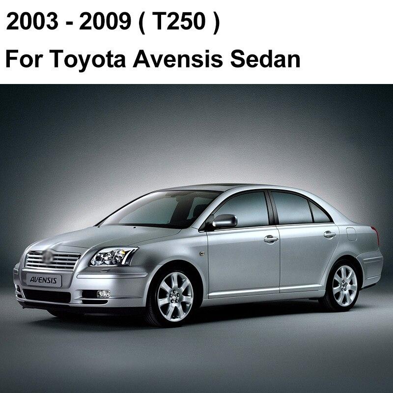 REFRESH Щетки стеклоочистителя для Toyota Avensis T250 / T270 / Verso Mk2 Mk3 Подходит для крепления крюка / кнопочных ручек Долговечная резина - Цвет: 2003 - 2009 (Sedan)
