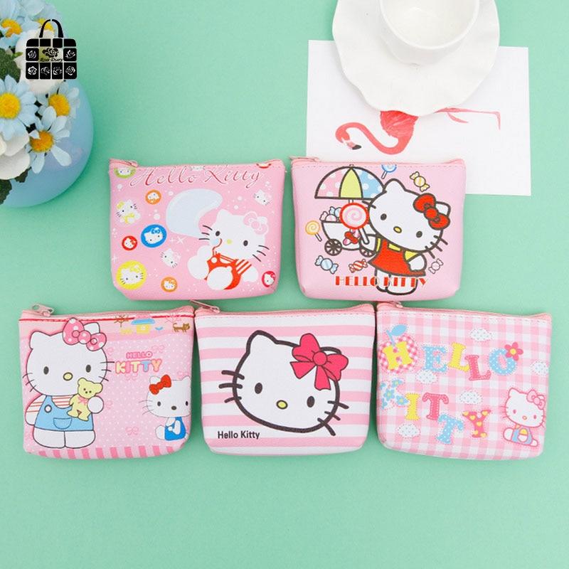 все цены на Rose Diary Cute KT cat High quality girl pu leather cartoon zero wallet children purse, women Coin Purses Pouch Case bags онлайн
