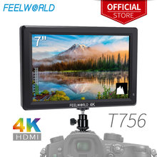 FEELWORLD T756 7 дюймов 1920x1200 ips на камеру полевой монитор Поддержка 4K HDMI вход выход для DSLR Canon sony Nikon ZHIYUN Gimbal