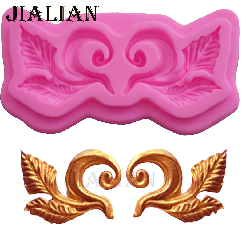 Relmbëlsira kufitare evropiane Relief Cake Silicone Mould Tools Decorating Moulds Gumpaste Moulds Pjekje Cupcake T0918
