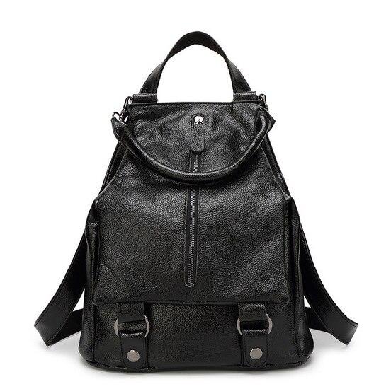 Femmes sac à dos en cuir sac à dos femmes sacs sacs d'école pour adolescents multiples canaux de livraison