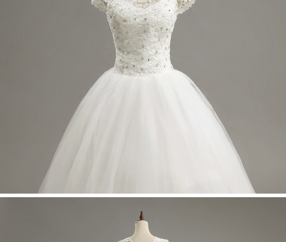 15 LAMYA Custom Size Romantic Lace Wedding Dress 2018 Fashionable Short Bride Gowns Cheap Bridal Dresses vestidos de novia