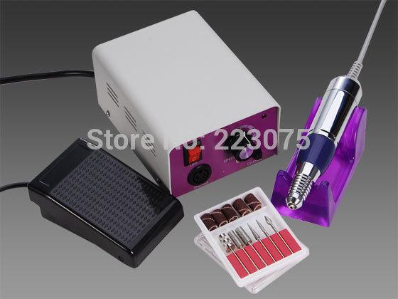 ФОТО Hot Details about Pro 25,000 RPM Electric Manicure Pedicure Nail Art Drill File Tool Set UK/EU/USA Plug