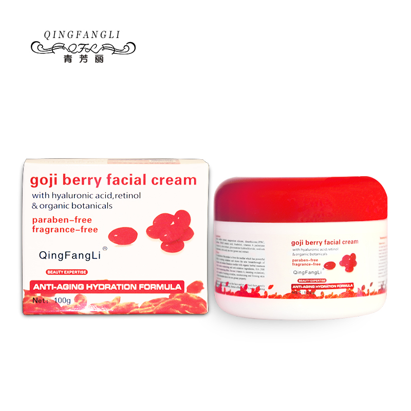 Goji Berry Face Cream Skin Regeneration Anti-Wrinkle Moisturizing Remove Spots Skin Whitening Face Cream 100g