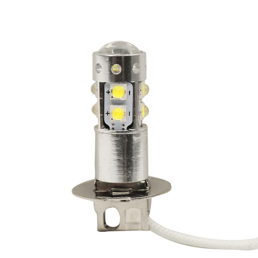 1pcs White 50W H3 LED Fog Light Bulb Car Driving DRL Lamp 12V 360 Degree Free Shipping new 2pcs 20w h15 led bulb 4smd xte car fog light dc 12v 24v 360 degree 720lm white headlight 6000k lamps up to 50 000 hours