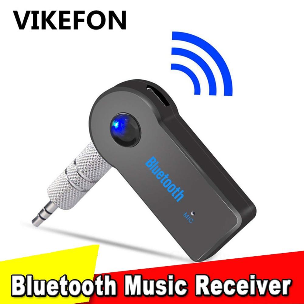 VIKEFON Bluetooth Audio Receiver Stereo 3.5mm Jack AUX Bluetooth Adapter MP3 Car Transmitter Wireless Speaker Headphone Adapter