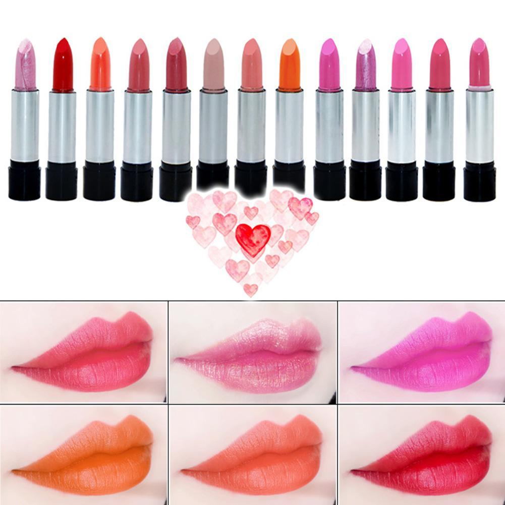 Waterproof Long Lasting Lipstick Pencil Moisturizing Women Makeup Cosmetics