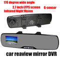 Factory price 2.7 Inch 120 degree Wide angle Lens car Rearview Mirror DVR Car Camera Video Recorder