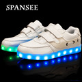 Eur25-37 usb niños shoes con luz led up kids moda casual shoes sneakers boy cestas niña zapatillas led luminoso que brilla intensamente
