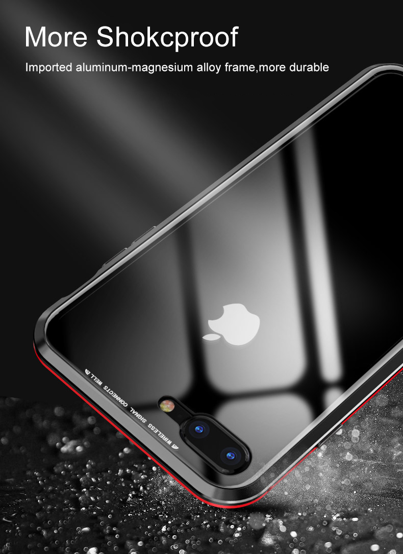 LUPHIE 360 Full Magnetic Case For iPhone X XS Max XR 8 7 Plus glass case (12)