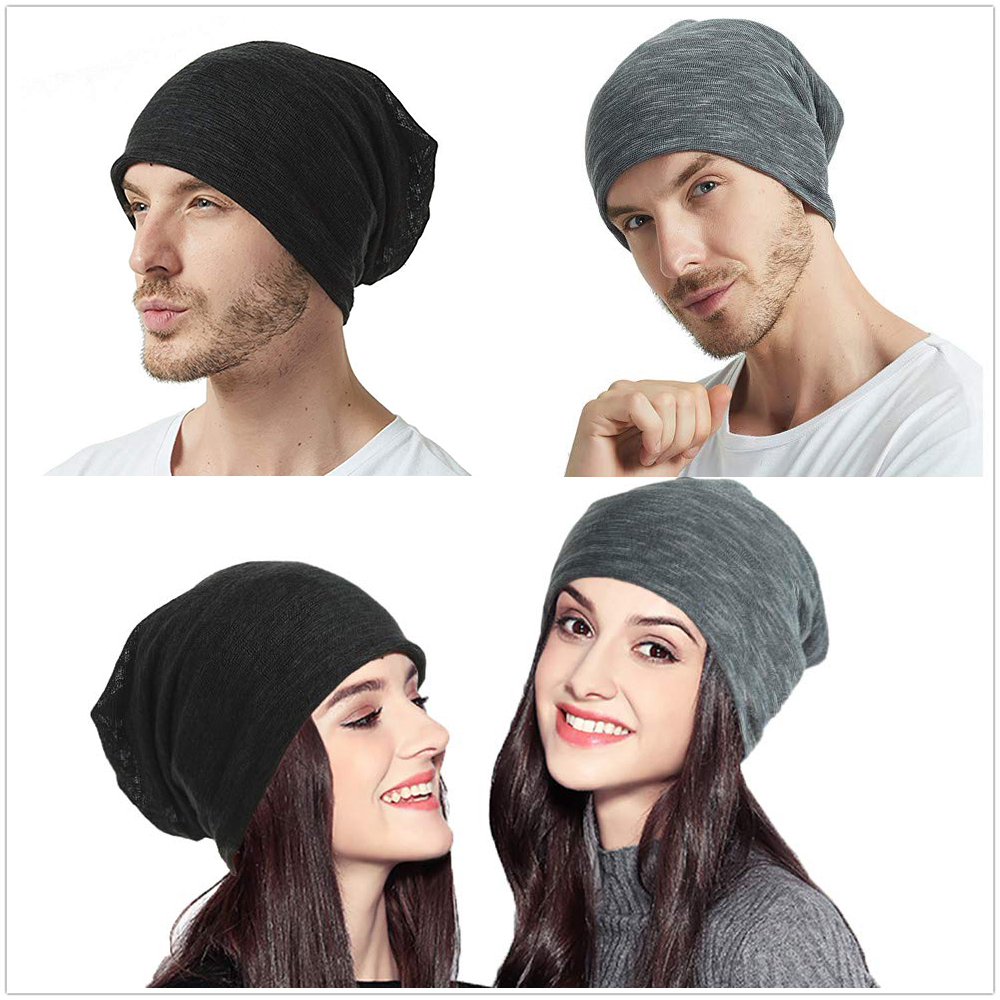 Mens soft slouchy   beanies   autumn Hip-hop collar scarf Thin Fabric   Skullie   Cap Unisex couple Turban Bonnet   Beanie   Knitted Hat
