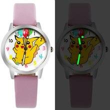 ot01 Bika Super Cartoon Watches Children's Watches Leather Watches  Children's Quartz Watch montre enfant montre femme