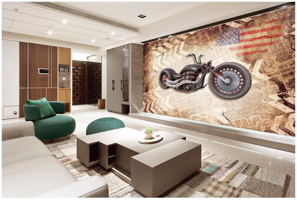 Custom photo 3d wallpaper cloth Motorcycle retro nostalgic living room Home decor 3d wall murals wallpaper for wall 3 d home decoration 3d bathroom wallpaper retro nostalgic wood love wallpapers for living room 3d wall murals page 9