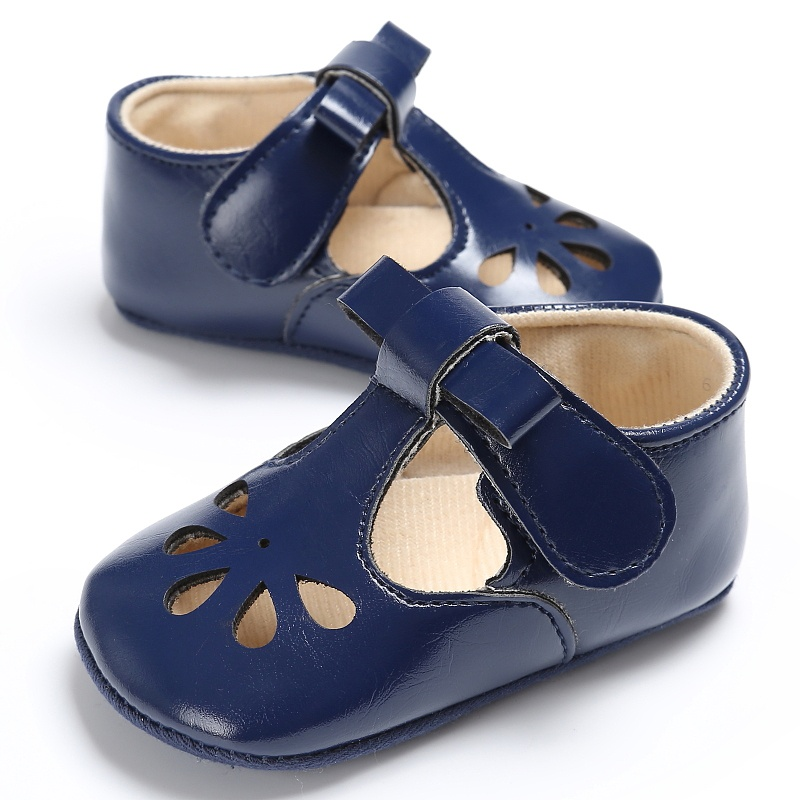 Baby Shoes Girl hollow princess Soft PU Leather First Walker