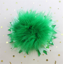 Adogirl 10pcs Saint Patricks Day Hair Bows Green Feathers Ribbon Handmade Boutique Accessories High Quality Clips