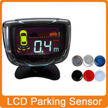 4 Sensors Buzzer LCD Screen Monitor Parking Sensor Kit Display 22mm Car Reverse Backup Radar Parking Assistance System 12V