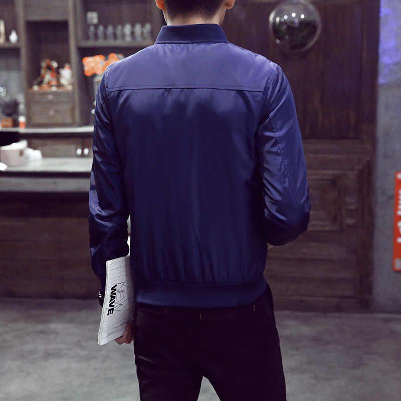 LBL 폭격기 자켓 남자 2020 가을 캐주얼 솔리드 패션 슬림 Ma 1 지퍼 자켓 남자 오버코트 야구 망 얇은 파일럿 자켓