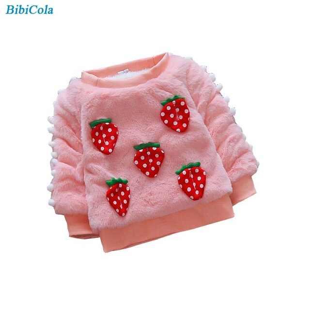 BibiCola herbst winter verdicken warme mantel für baby mädchen neugeborenen oytwear bebe pullover mantel infant kinder samt fleece kleidung