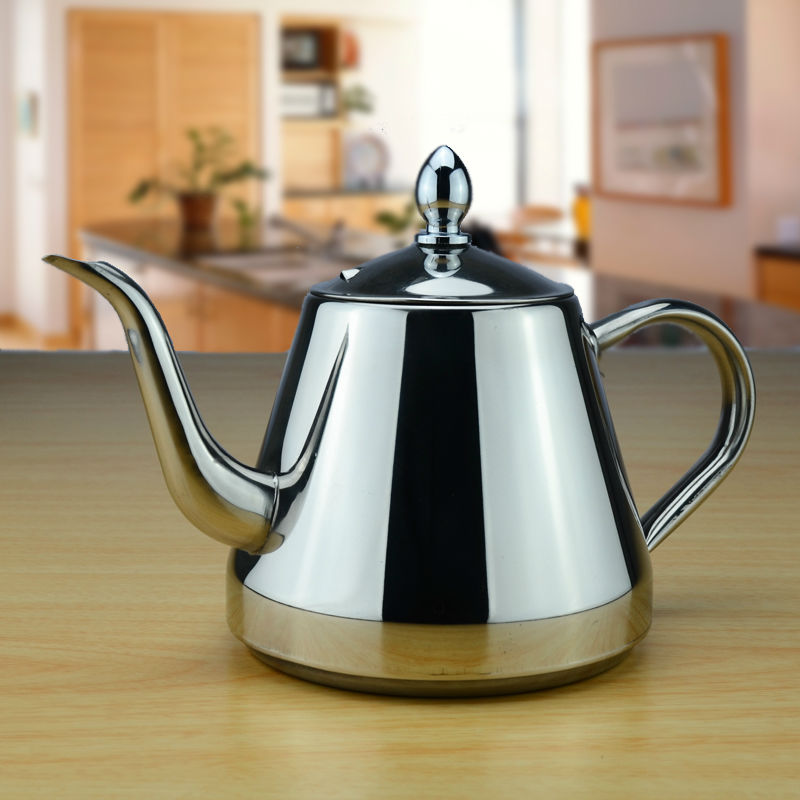Sanqia 1.0l stainless steel Teapot Coffee Drip Kettle tea pot with tea strainer or infuser small Kettle tea kettle teaware sets