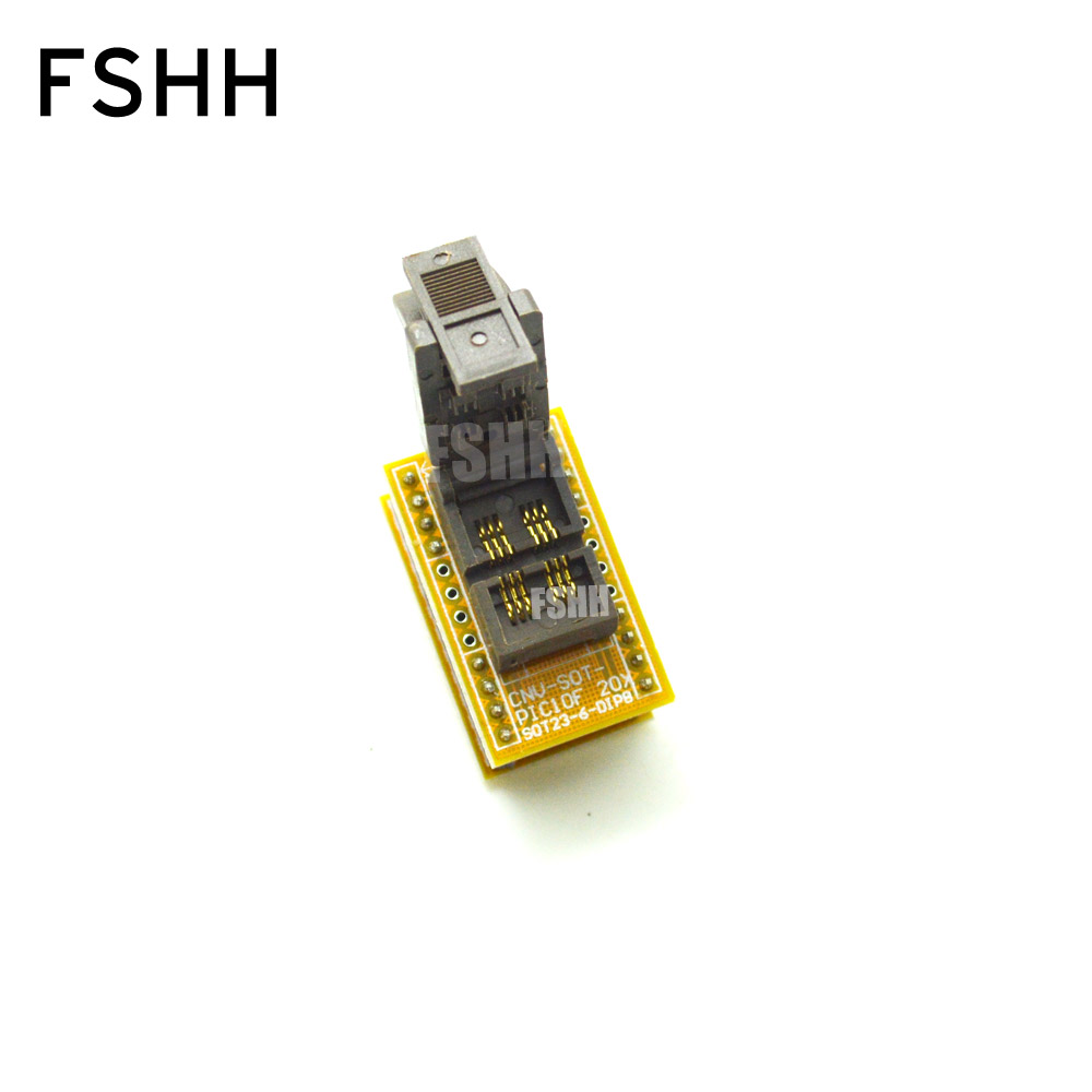 SOT23-6 To DIP8 Programmer Adapter For PIC Series Chip Test Socket SOT23-DIP Adapter CNV-SOT-PIC10F20X1 Adapter Programmer MICRO