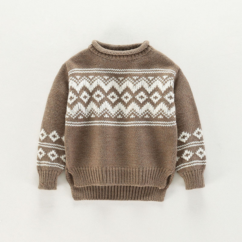 Boys Girls Wave Pattern Lovely Sweaters Soft Warm Kids Sweater