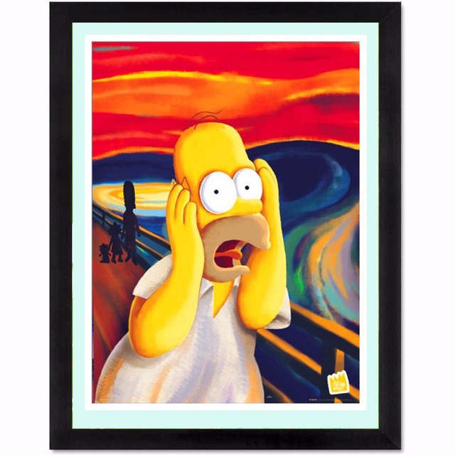 Screech Homer Simpson Figure Canvas Art Print Painting Poster Wall Pictures For Room Decoration Home Decor