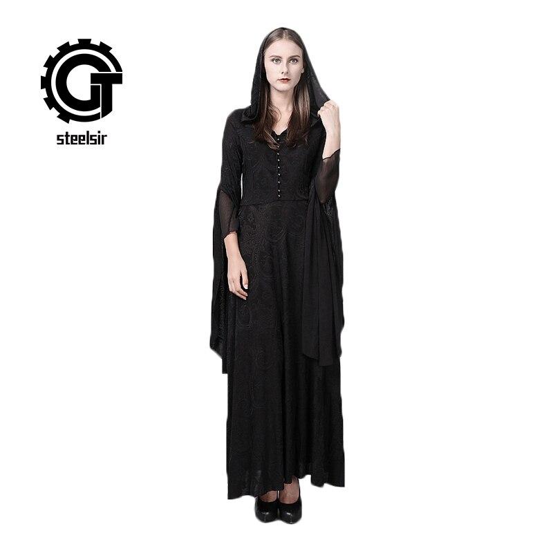 4c0b48142466 Medievale Vestito Delle Halloween Pizzo Partito Lana Abiti Chiarore In  Costume Del Lungo Strega Manicotto Donne ...